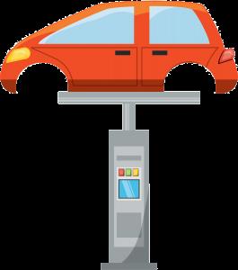 Podnośnik samochodowy ikonka, kolorowa